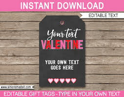 The most common valentine gift label material is paper. Valentine S Day Gift Tags Template Printable Gift Tags