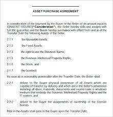 Purchase Agreement Samples Asset Transfer Agreement Ichwobbledich Com