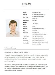 Basic Resume Template for Business Development Manager