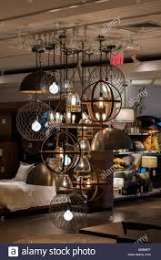 Elegant Light Bulbs Elegant Light Fixture On Display In Furniture Store With