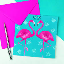 Pink Christmas Card Flamingo Christmas Card By Paper Plane Notonthehighstreet Com