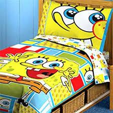 Spongebob Squarepants Toddler Bedding Set - 4pc Comforter Bed Set