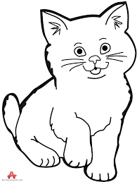 black and white cat clipart. Cat Clipart Black And White With