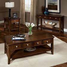 dark brown wood coffee and side table set with drawers for storage wooden coffee table set with drawers two level brown wood coffee table small rectangle