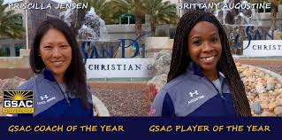 San Diego Christian College - Priscilla Jensen Named GSAC Coach of the  Year; Brittany Augustine Player of the Year