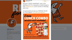 Little Caesars Free Pizza Giveaway Monday Honors Umbc Ncaa Win