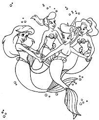 Small Picture Ariel And Her Sisters Coloring Pages Coloring Coloring Pages