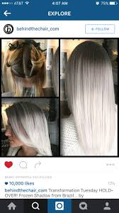 How beautiful is this! Black brown to silver white blonde platinum ombr  hair