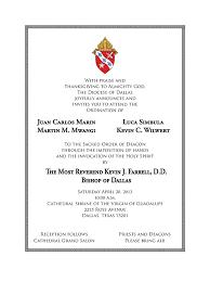 Ordination Invitation Template Catholic Deacon Ordination Invitations