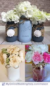 Decorating Mason Jars With Ribbon 100 Mason Jar Centerpiece Ideas for Weddings My Online Wedding 41