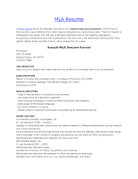 Show Resume Format Resume Example Mla Format How To Write A Apa Mccombs Tem Sevte 13