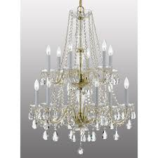 crystorama lighting group traditional crystal polished brass 12 light chandelier with clear hand cut crystal