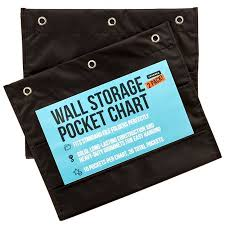 Pack Of 2 Premium Wall Storage Pocket Charts Organizers Black The Perfect Pocket Chart For Classroom School Office Or Home Use