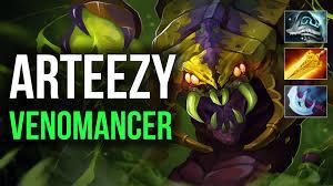 arteezy ranked venomancer dota 2 gameplay youtube