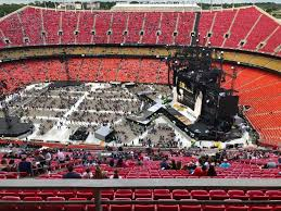 Arrowhead Stadium Section 322 Row A1 Seat 12 Taylor