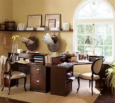 country home office. Office:Splendid Interior Idea For Home Office With Wall Lights And Decorative Items Country Style O