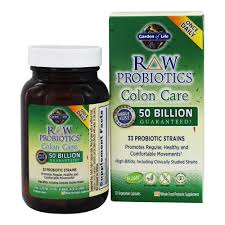 garden of life raw probiotics colon care 33 probiotic strains 50 billion cfu 30 vegetarian capsules at luckyvitamin com