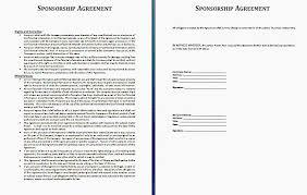 Sponsorship Contract Template Best 44 Elegant Sponsorship Agreement Template Sponsorship Contracts