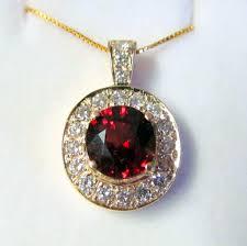 garnet diamond pendant pr1202 14k white gold
