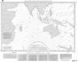 Ocean Charts Nga 74 Great Circle Sailing Chart Of The Indian Ocean Nautical Bookshop Nautic Way