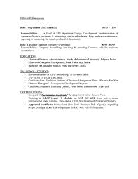 Sap Bi Sample Resume For 2 Years Experience Magnificent Sap Bi Bo Cv Elaboration Professional Resume Examples 53