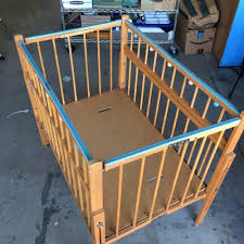 vintage wood port a crib play pen doll beds retro mid century modern display
