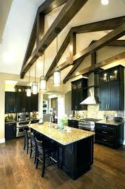 vaulted ceiling kitchen lighting. Fine Vaulted Hanging Pendant Lights On Vaulted Ceiling Kitchen Lighting For Ceilings  Light Fixtures To I