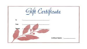 Beauty Gift Certificate Template Beauty Salon Gift Certificate