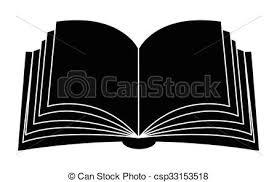 open book vector clipart silhouette