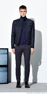 Men's Navy Quilted Bomber Jacket, Navy Turtleneck, Charcoal Wool ... & Men's Navy Quilted Bomber Jacket, Navy Turtleneck, Charcoal Wool Dress  Pants, Black Leather Double Monks Adamdwight.com