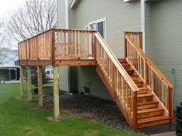 image of deck stair railing decorations