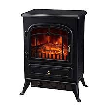 homcom 16 1500w free standing electric wood stove fireplace