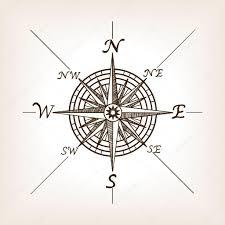 эскиз компас и карта компас роза эскиз стиля векторные иллюстрации