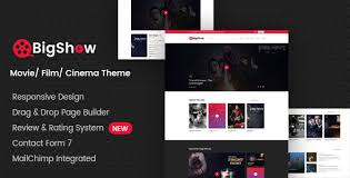 Wordpress Movie Theme Bigshow Wordpress Cinema Movie Theme