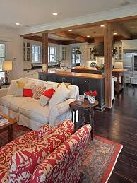 traditional furniture living room. Example Of A Classic Open Concept Dark Wood Floor And Brown Living Room Design In Traditional Furniture