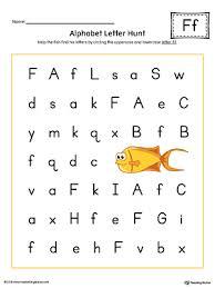 Alphabet Letter Hunt Letter F Worksheet Color