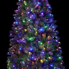 White Tree Colored Lights Slim Multi Light Christmas Tree Pogot Bietthunghiduong Co