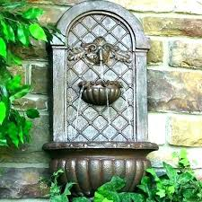 stone wall fountain awesome lion head faux french the style how to build trickle water feature