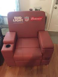 leather bud light budweiser nfl recliner furniture in zebulon nc