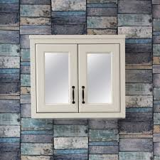 butler rose darcy vanilla wooden bathroom mirrored cabinet 700 x 600mm