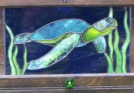 stained glass turtle stained glass sea gallery town square lamp