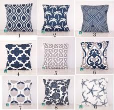 outdoor pillows navy