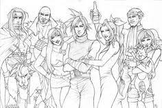 Fantasy Coloring Pages Final Fantasy 7 Colouring Pages Coloring