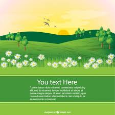landscaping templates free spring landscape template vector free download