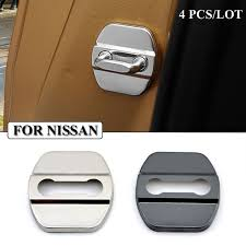 Car Styling Stainless Steel Car Covers Door Lock Cover Case For