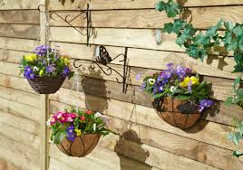 amazing wall hanging baskets on add colour to your garden tips from david for bathroom storage ikea b