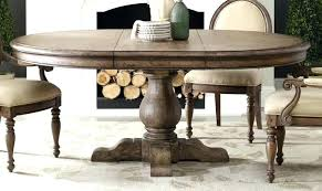 extendable wooden dining table room round set collapsible large white oak 120cm ng t