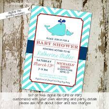 Diaper Shower Invitation Whale Baby Shower Invitation Baby Boy By Katiedid Designs On Zibbet