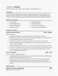 Resume For Event Planner Professional Template Event Coordinator