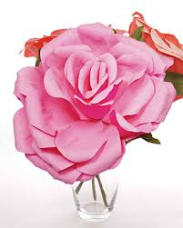 Making Flower Using Crepe Paper Crepe Paper Roses How To Video Martha Stewart